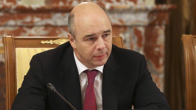 Глава Минфина Антон Силуанов