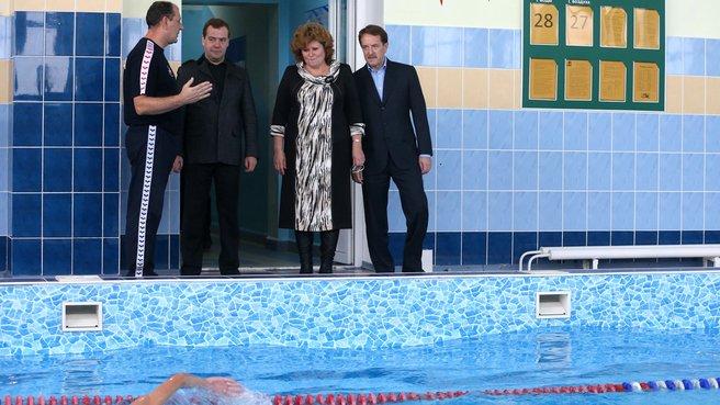 Осмотр плавательного бассейна
