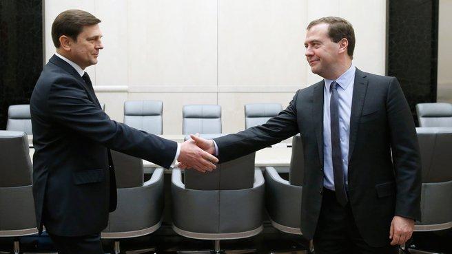 Рабочая встреча с главой Роскосмоса Олегом Остапенко