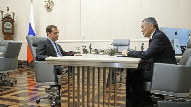 Рабочая встреча с главой Республики Калмыкия Алексеем Орловым