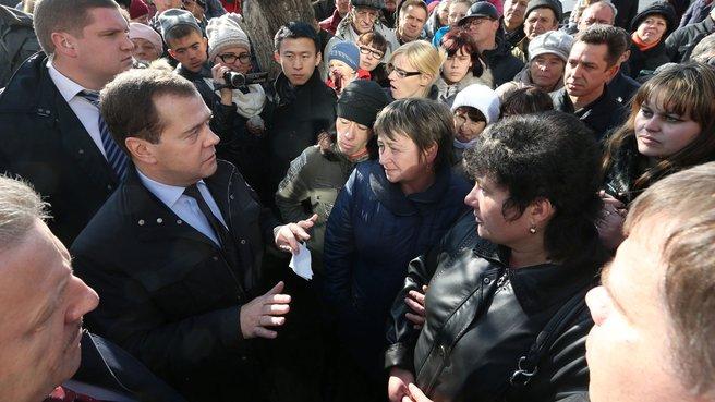 С жителями города Комсомольска-на-Амуре