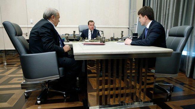 Встреча с президентом РАН Владимиром Фортовым и главой Федерального агентства научных организаций Михаилом Котюковым