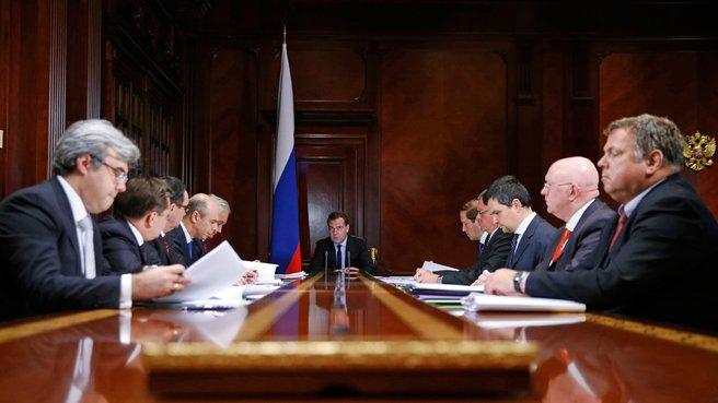 Совещание об итогах первого года членства России во Всемирной торговой организации