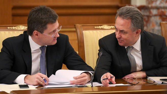 Глава Минэнерго Александр Новак и глава Минспорта Виталий Мутко