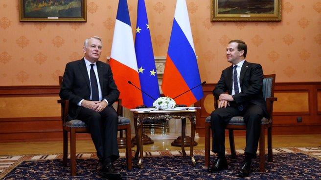 Беседа с Премьер-министром Франции Жаном-Марком Эйро