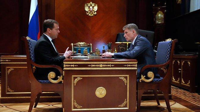 Рабочая встреча с губернатором Амурской области Олегом Кожемяко