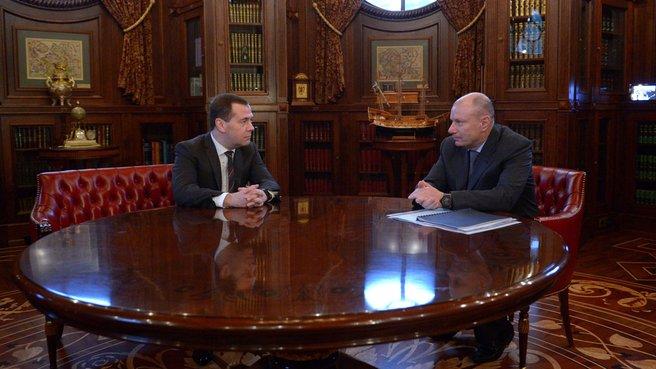 Рабочая встреча с генеральным директором ГМК «Норильский никель» Владимиром Потаниным