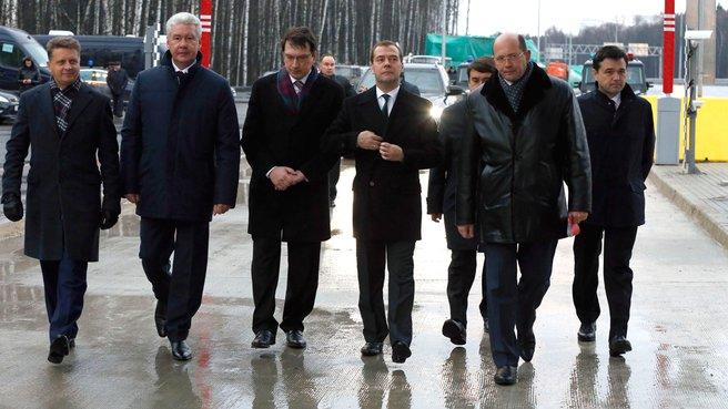 Осмотр нового выхода на МКАД с федеральной автодороги М1 «Беларусь»
