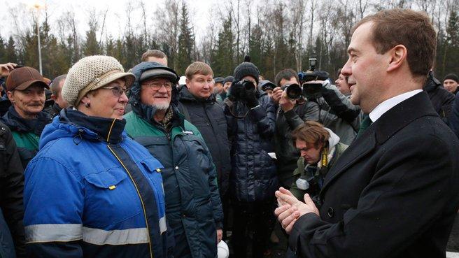 Общение с жителями микрорайона Немчиновка