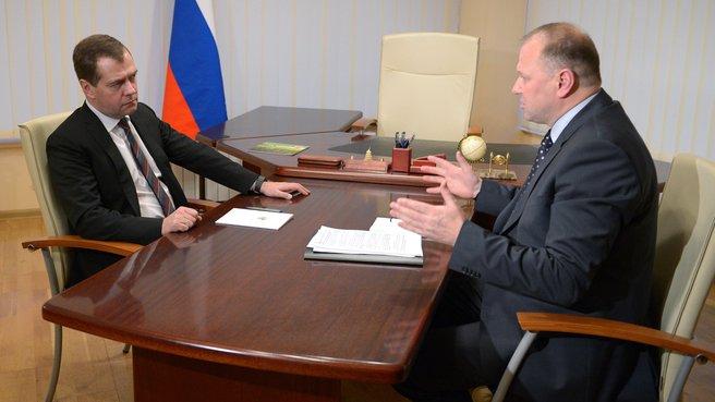 Беседа с губернатором Калининградской области Николаем Цукановым