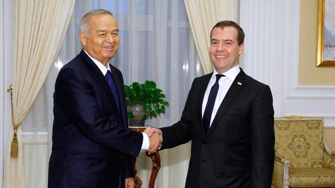 With Uzbek President Islam Karimov
