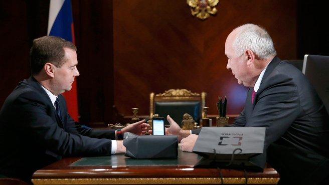 Встреча с генеральным директором госкорпорации «Ростехнологии» Сергеем Чемезовым