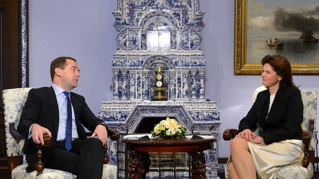Беседа с Председателем Правительства Республики Словения Аленкой Братушек