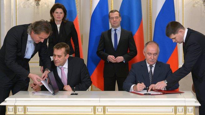 Церемония подписания совместных документов