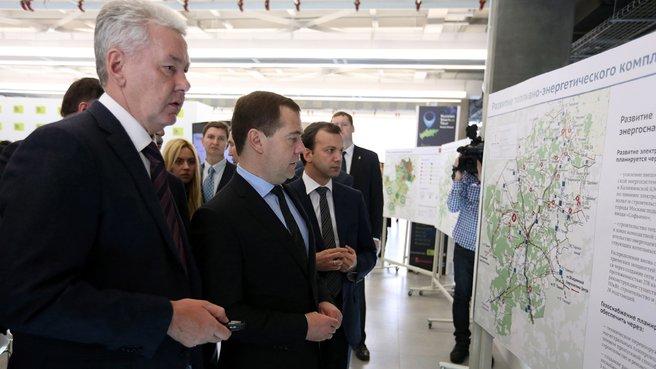 С мэром Москвы Сергеем Собяниным и заместителем Председателя Правительства Аркадием Дворковичем