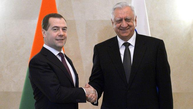 С Премьер-министром Белоруссии Михаилом Мясниковичем
