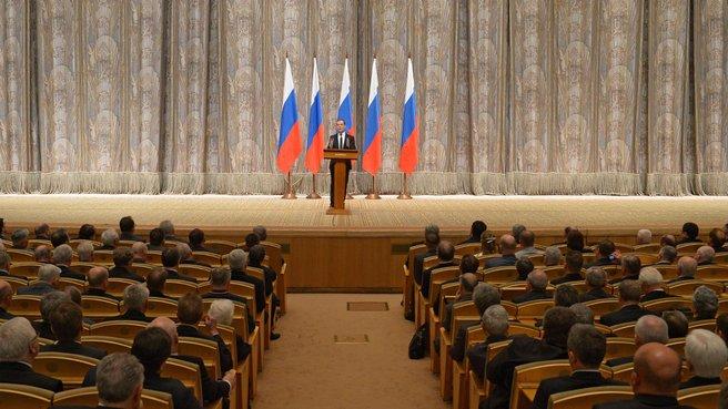 Выступление на церемонии вручения премий Правительства России в области науки и техники