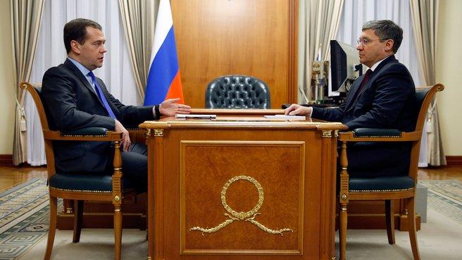 Встреча с губернатором Тюменской области Владимиром Якушевым