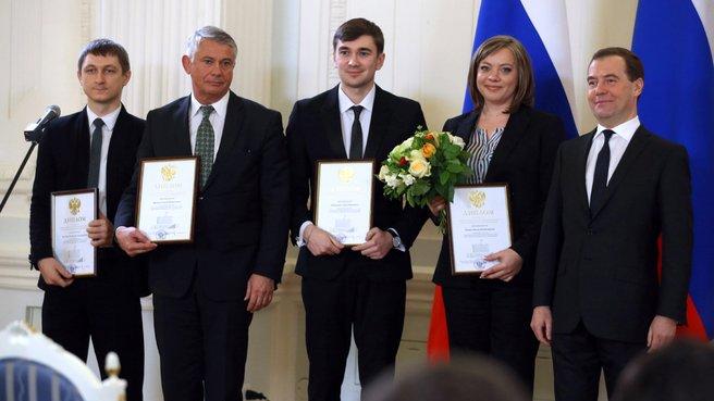 C лауреатами премии Правительства «За реализацию проекта РОСТОВ-НА-ТВ»