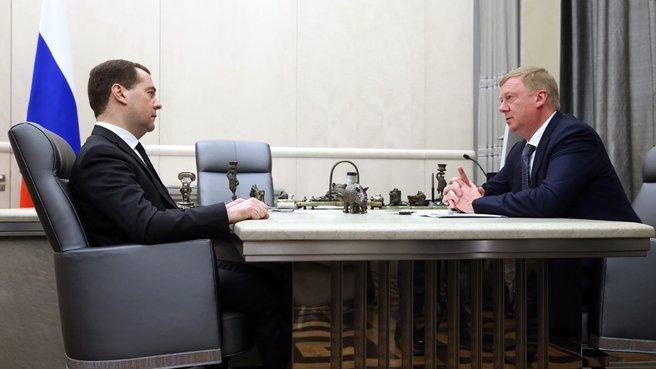Встреча с председателем правления ОАО «Роснано» Анатолием Чубайсом