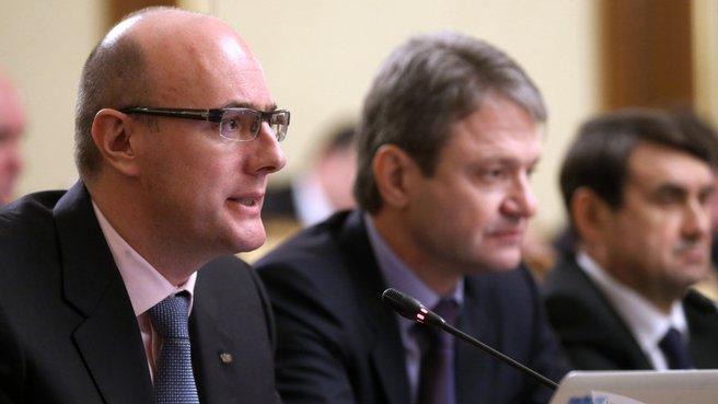 Выступление президента оргкомитета «Сочи-2014» Дмитрия Чернышенко на заседании Правительства