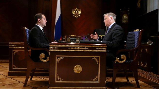 С президентом ОАО «Российские железные дороги» Владимиром Якуниным