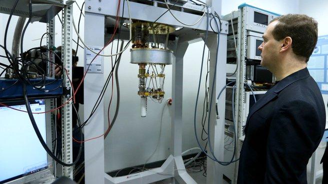Осмотр лаборатории «Сверхпроводящие метаматериалы»