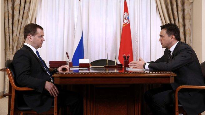 Беседа с губернатором Московской области Андреем Воробьёвым