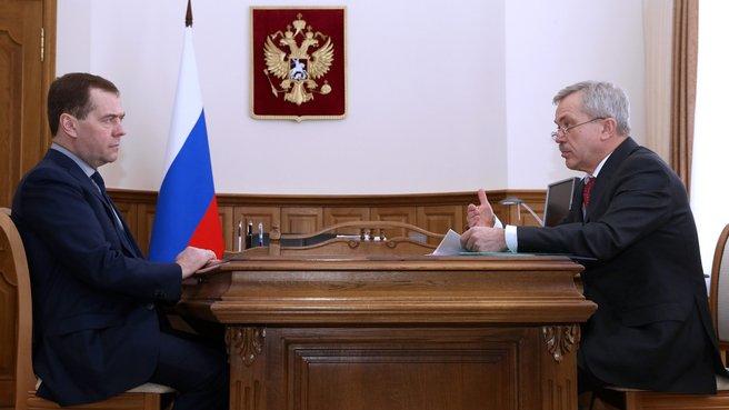 Беседа с губернатором Белгородской области Евгением Савченко