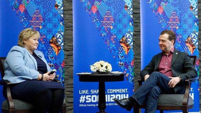 С Премьер-министром Норвегии Эрной Сульберг