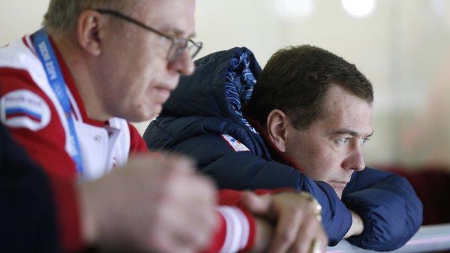 С двукратным олимпийским чемпионом по хоккею с шайбой Вячеславом Фетисовым