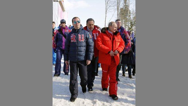 С Президентом России Владимиром Путиным и главой Минспорта Виталием Мутко