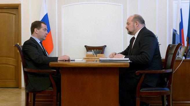 Рабочая встреча с губернатором Архангельской области Игорем Орловым