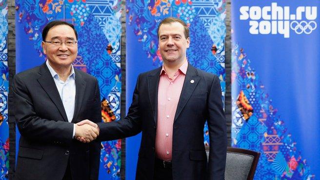 С Премьер-министром Республики Корея Чон Хон Воном