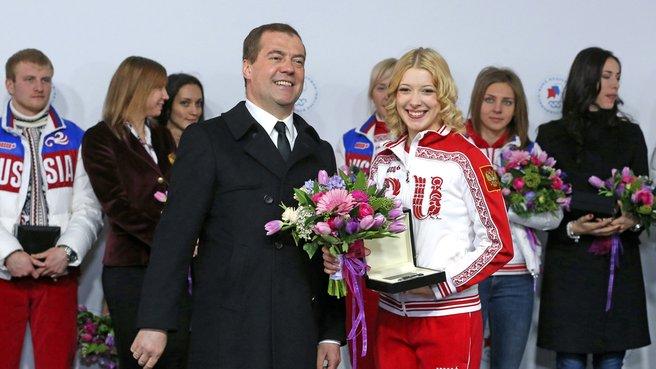 С олимпийской чемпионкой в фигурном катании Екатериной Бобровой
