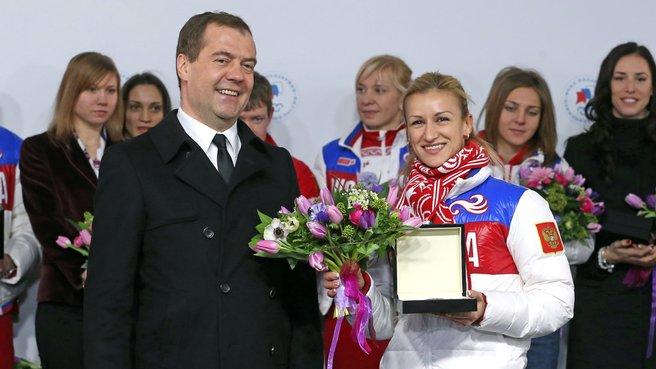 С двукратной олимпийской чемпионкой в фигурном катании Татьяной Волосожар
