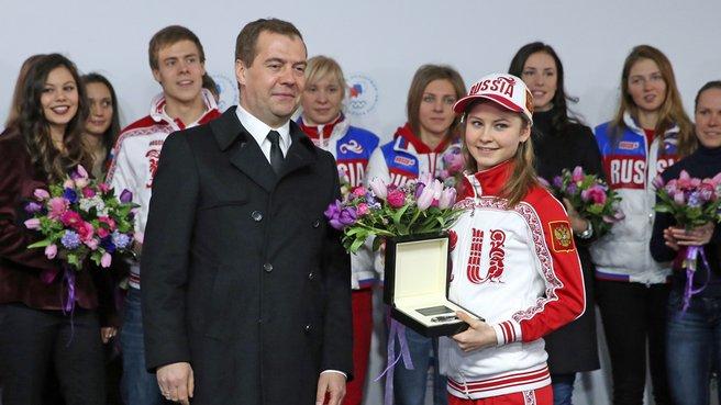 С олимпийской чемпионкой в фигурном катании Юлией Липницкой