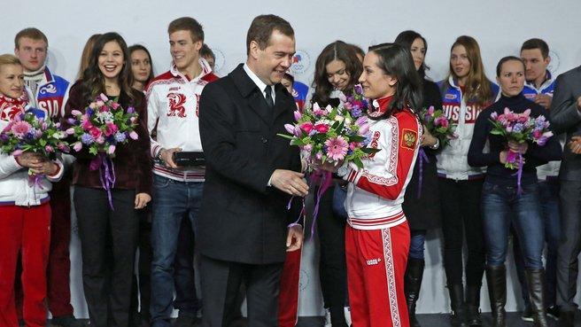 С олимпийской чемпионкой и серебряным призёром XXII Олимпийских игр в фигурном катании Ксенией Столбовой