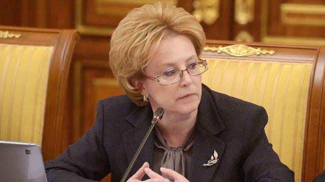 Глава Минздрава Вероника Скворцова