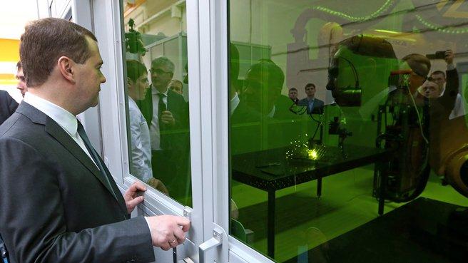 Посещение регионального инжинирингового центра промышленных лазерных технологий «КАИ-Лазер»