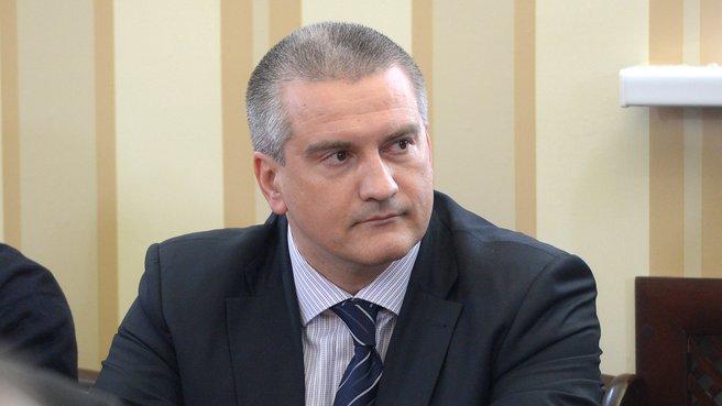 Председатель Совета министров Республики Крым Сергей Аксёнов