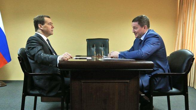 Беседа с временно исполняющим обязанности губернатора Волгоградской области Андреем Бочаровым