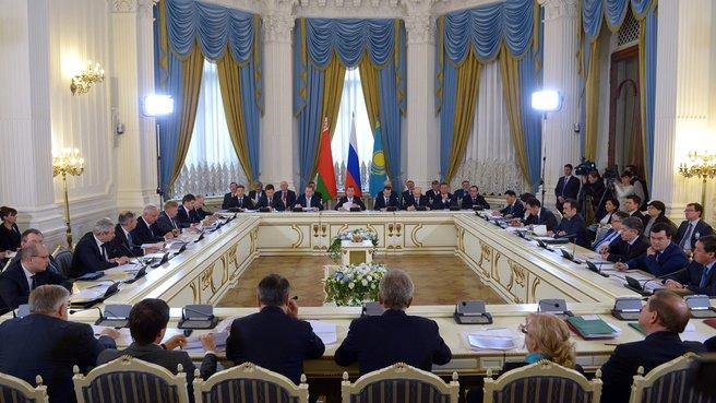 Встреча глав правительств России, Белоруссии и Казахстана