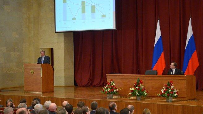 Доклад главы Минэкономразвития Алексея Улюкаева на заседании расширенной коллегии Министерства экономического развития