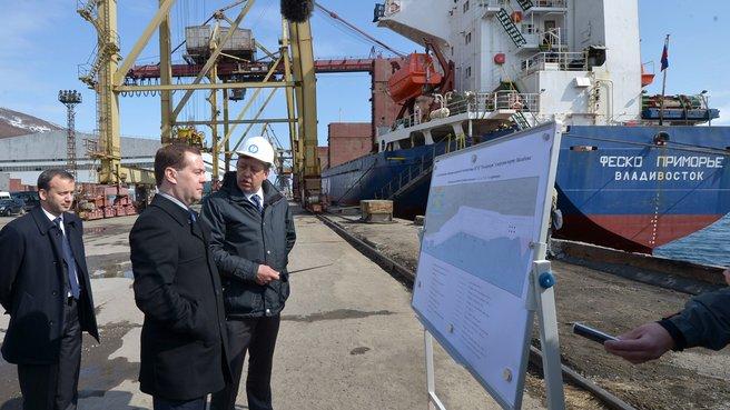 Посещение Магаданского морского торгового порта