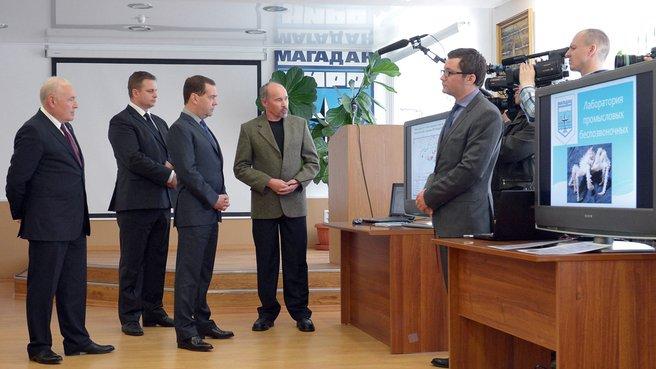 Посещение Магаданского научно-исследовательского института рыбного хозяйства и океанографии
