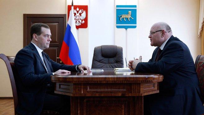 С губернатором Еврейской автономной области Александром Винниковым