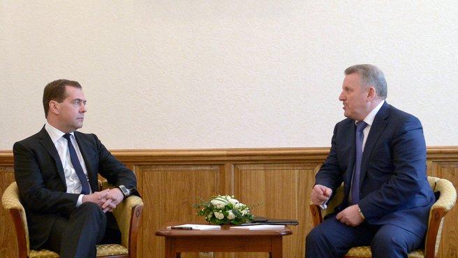Беседа с губернатором Хабаровского края Вячеславом Шпортом