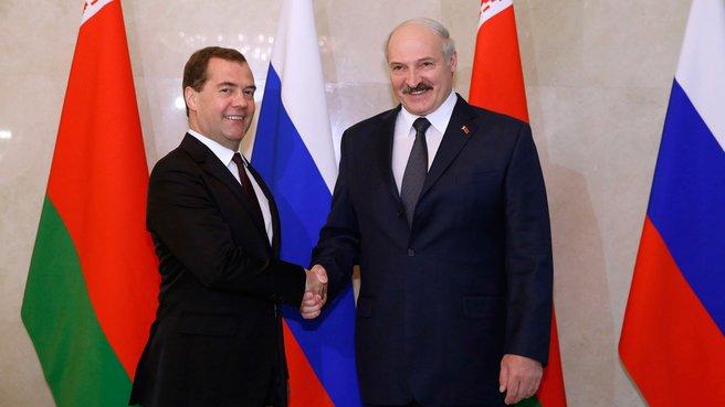 С Президентом Белоруссии Александром Лукашенко
