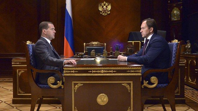 С Министром по делам Северного Кавказа Львом Кузнецовым